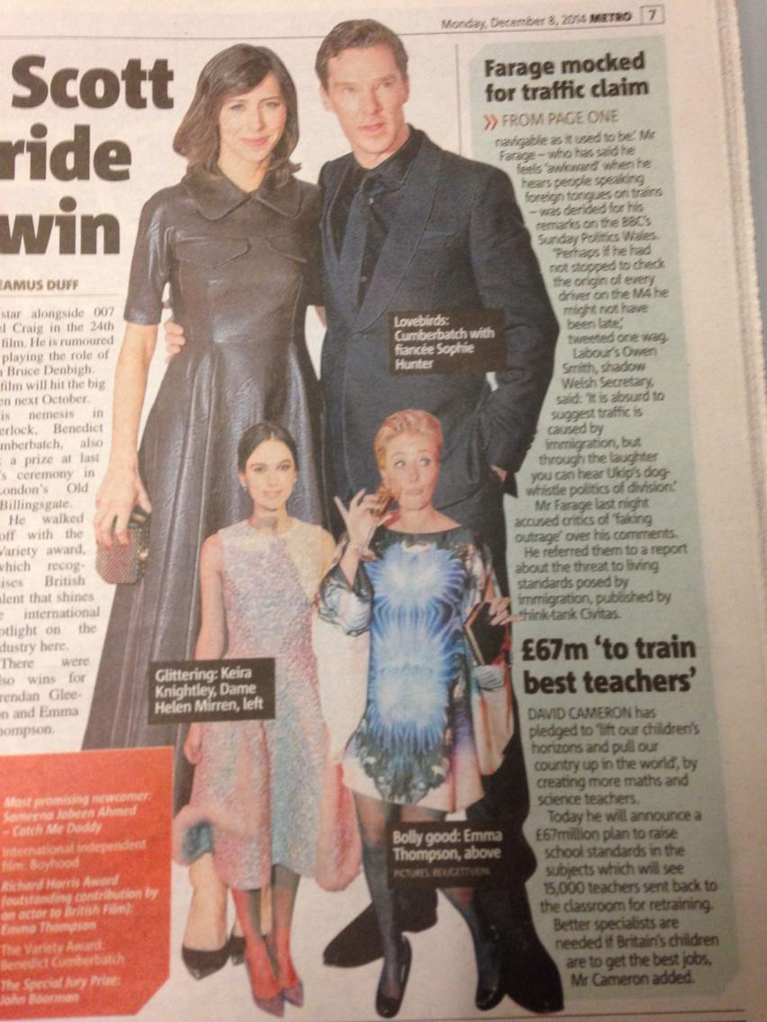 Benedict Cumberbatch's children look like small adults http://t.co/clU9vaOlyx
