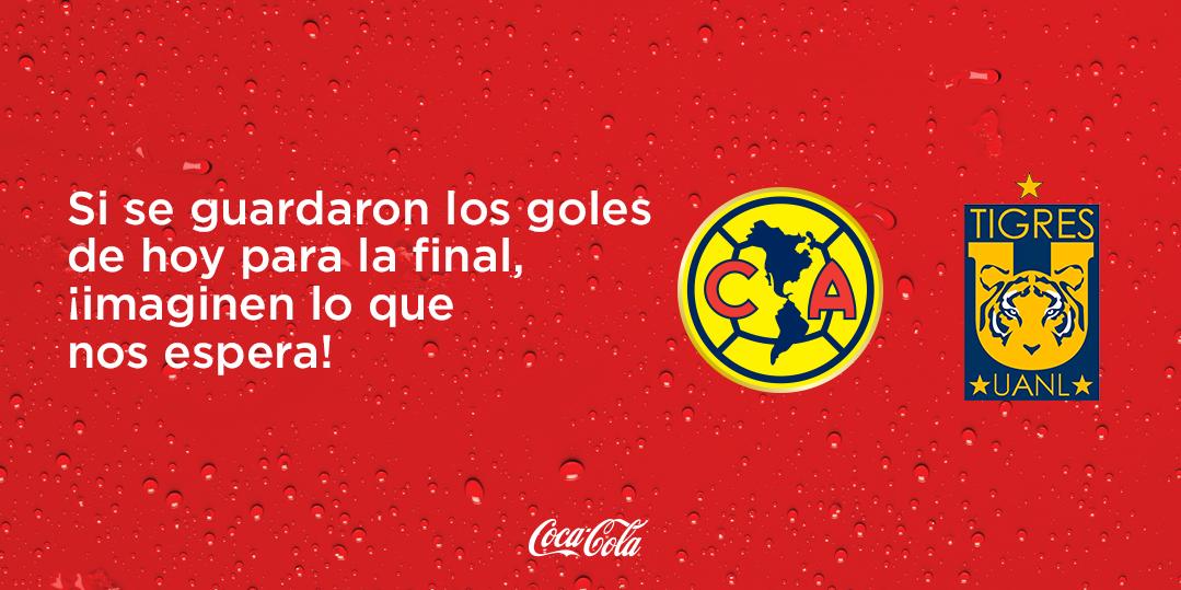 Coca-Cola felicita a los finalistas del futbol mexicano a través de Twitter