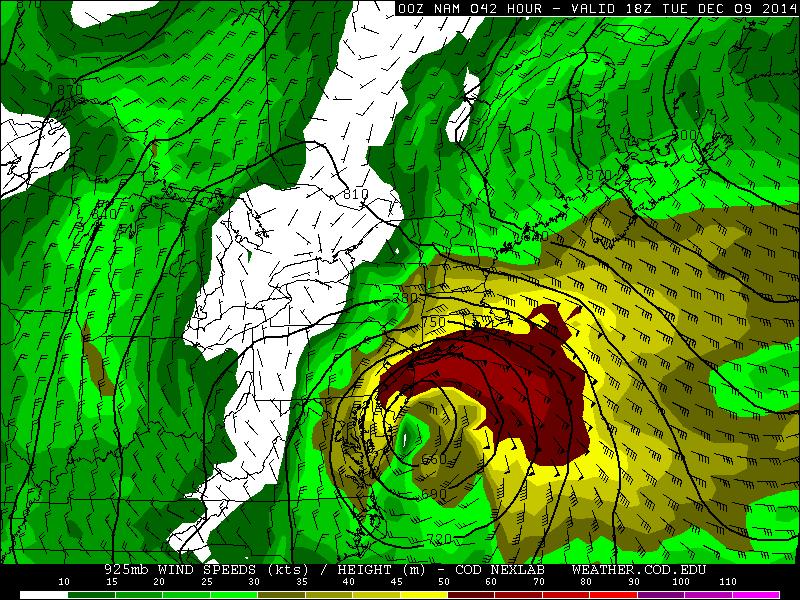 December 9th-10th Forecast Map(s) Cut-Off Coastal Storm B4TeLp-IcAE0R_i