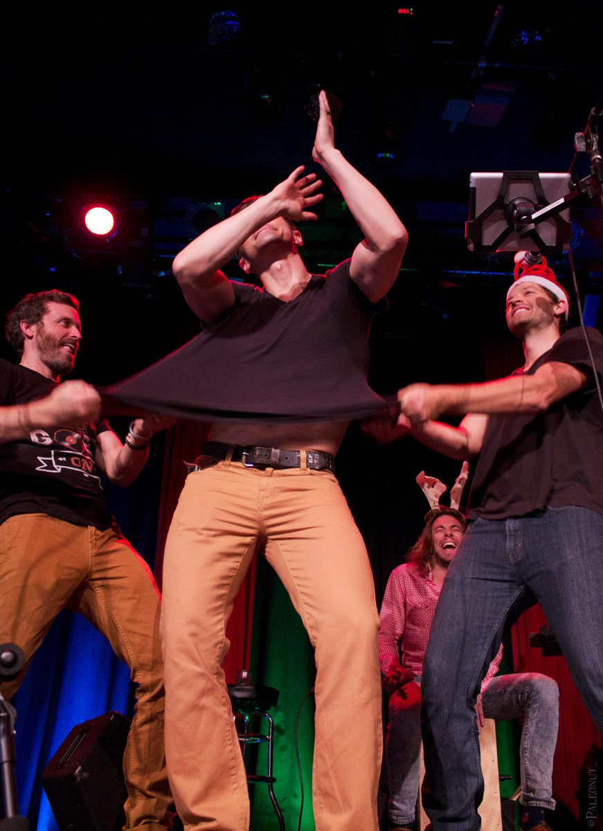 Like any good office holiday party... things got a little wild... #mannlychristmas @mattcohen4real @mishacollins http://t.co/u2tBnNKCcm