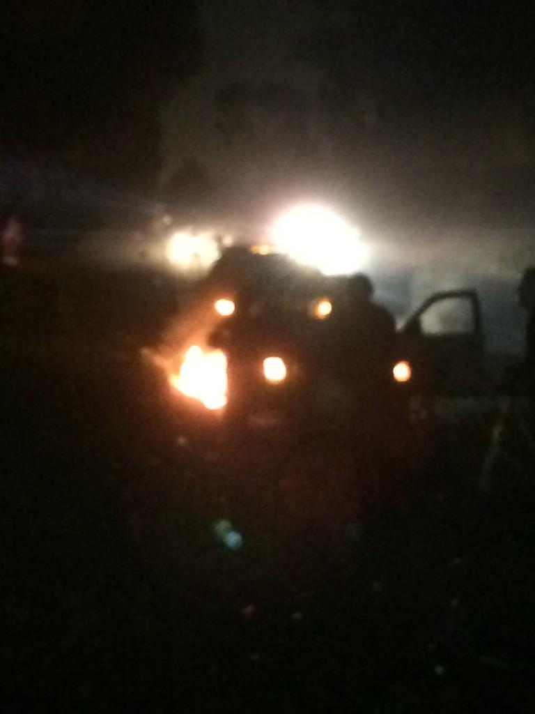 Cop car set on fire in Oakland