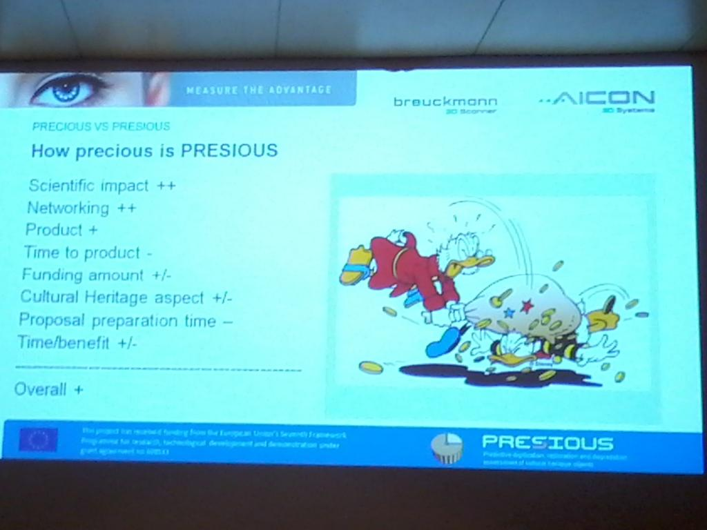 Time is precious for @presious projects says D Rieke-Zapp at #EcultWS14 http://t.co/9b5lTMH02B