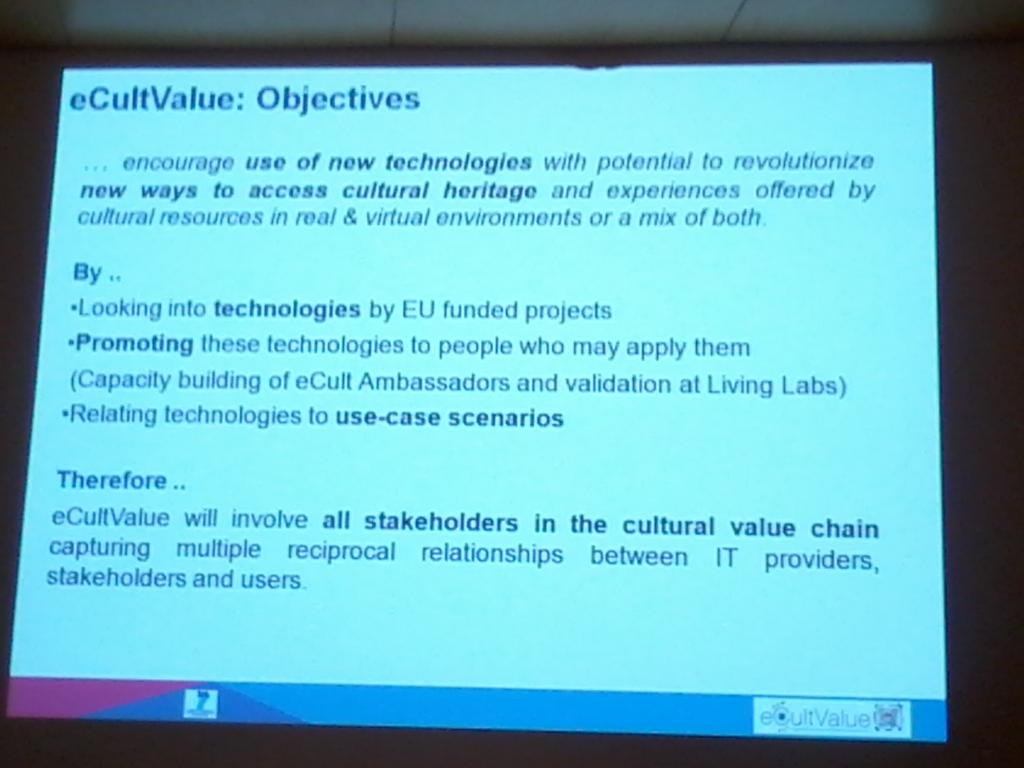 Yannis Ioannidis president @eCultObs explains organisation objectives and how they dialogue with comunity #Ecultws14 http://t.co/2H298Pak56