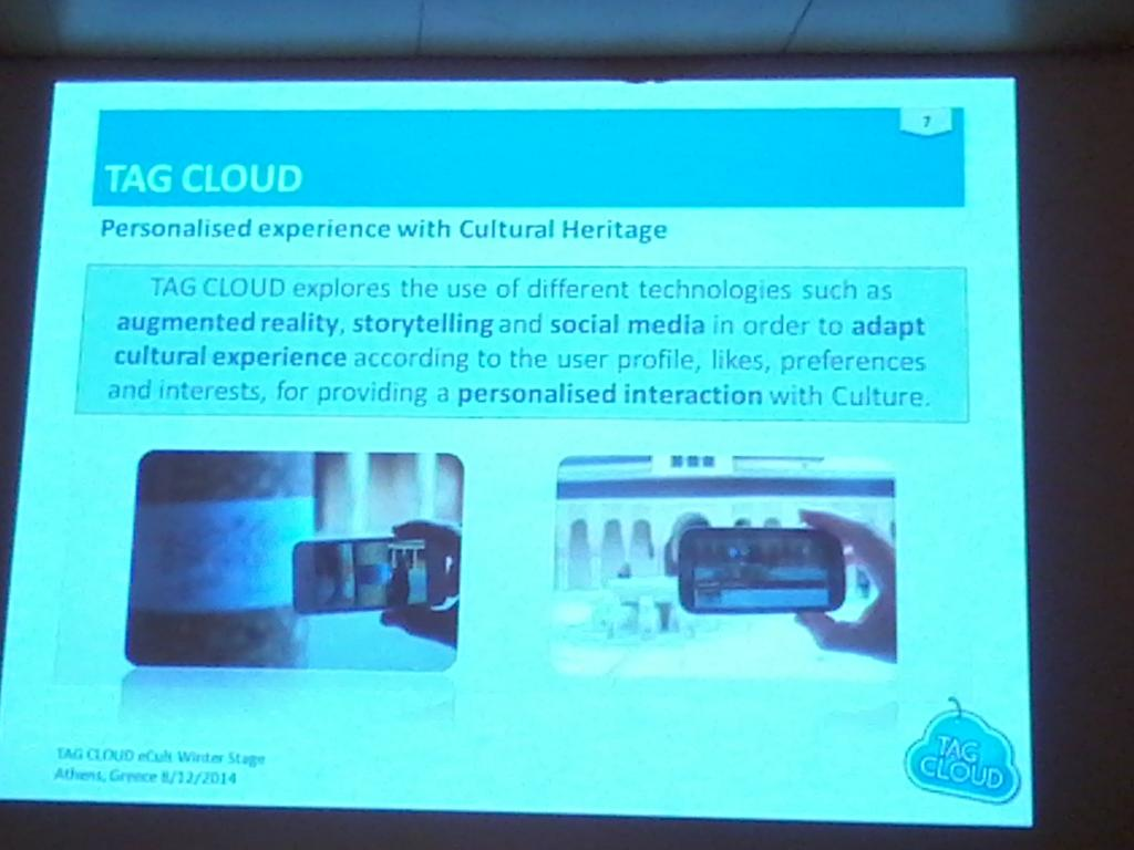 @TagCloudProject personalises your visit to cultural heritage #ECultws14 http://t.co/sJ4fLjNVqe