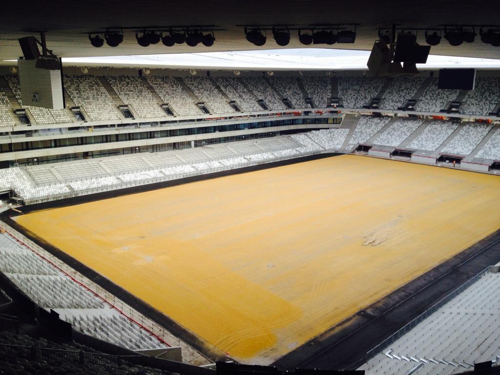 Pose des sièges achevée au Nouveau Stade