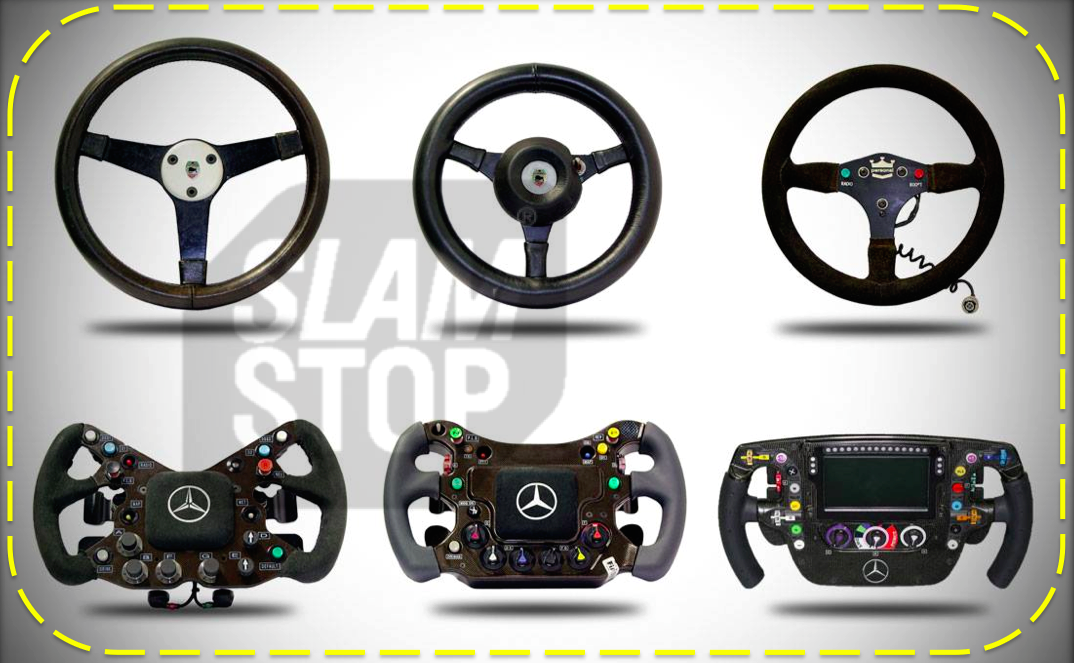 The evolution of the F1 steering wheel!!!  Check out our gallery of classic #McLaren #F1 wheels through the ages  #ME http://t.co/FAeo0N0LuP