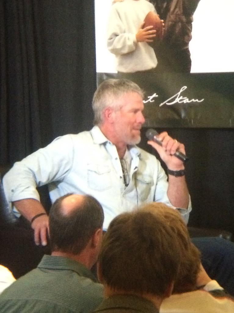 Brett Favre: 'Exciting to be back'