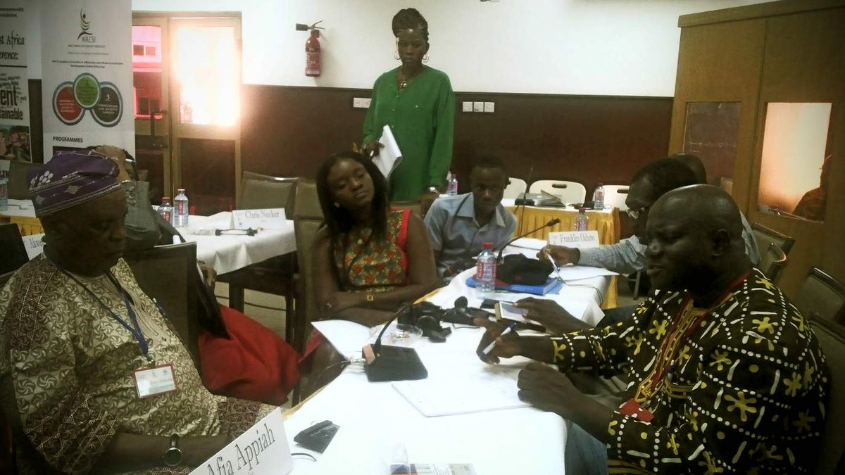 Group work comes to an end @wacsi #wacscon14 #ecowas #priorities include peace and Security, #education, #youth http://t.co/bRA1xzw7mO