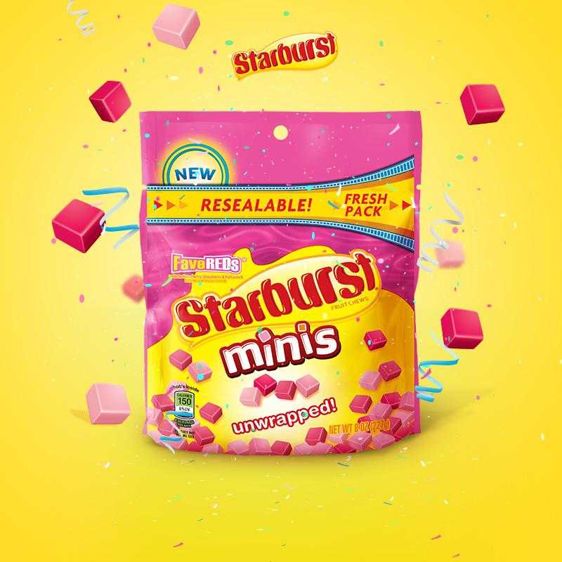 Say hello to Starburst FaveREDs Minis! All done saying hello? Now start omnomnoming. http://t.co/Y9ZSeydwqs