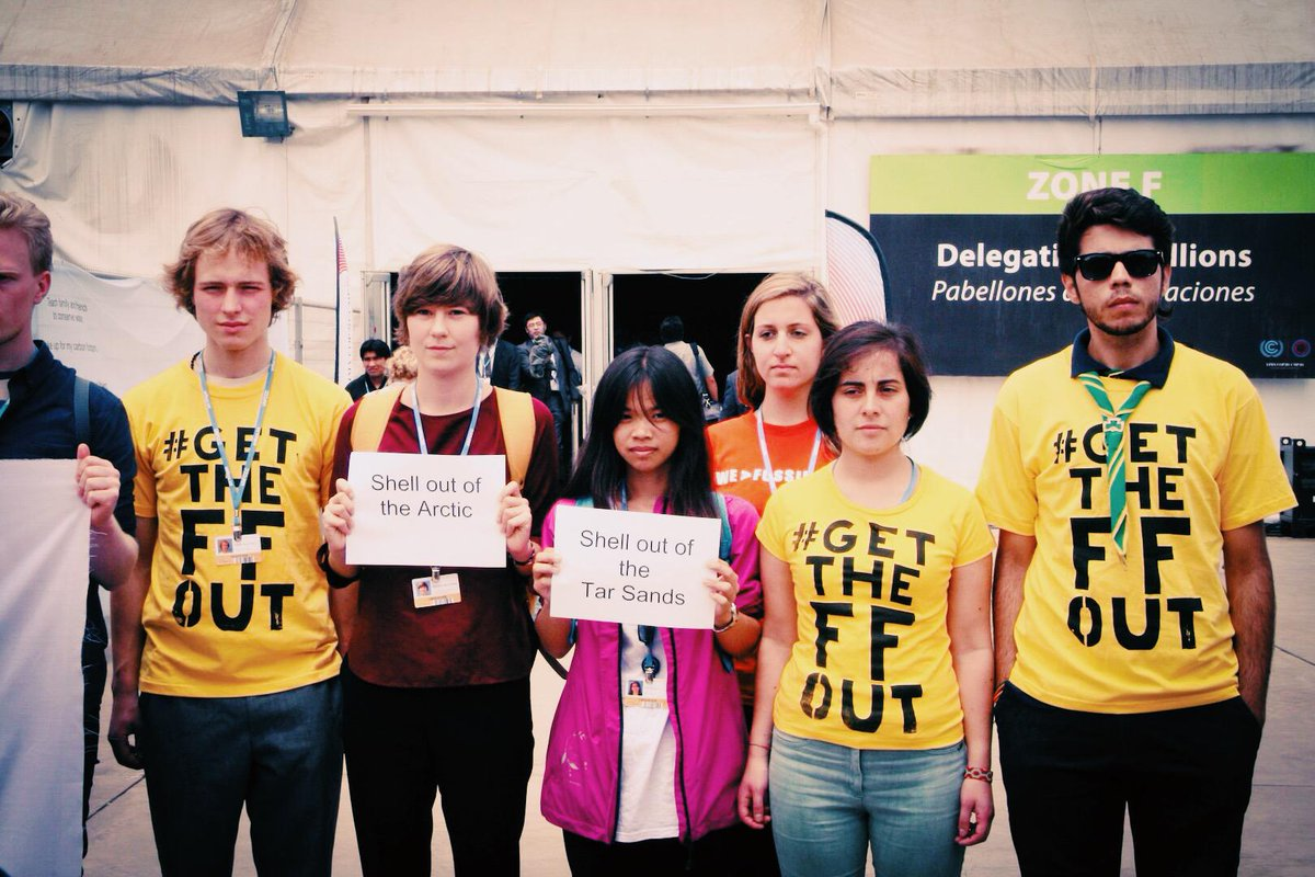 Fossil fuel companies: #GetTheFFOut of #COP20! http://t.co/8W8Ug7HRrH