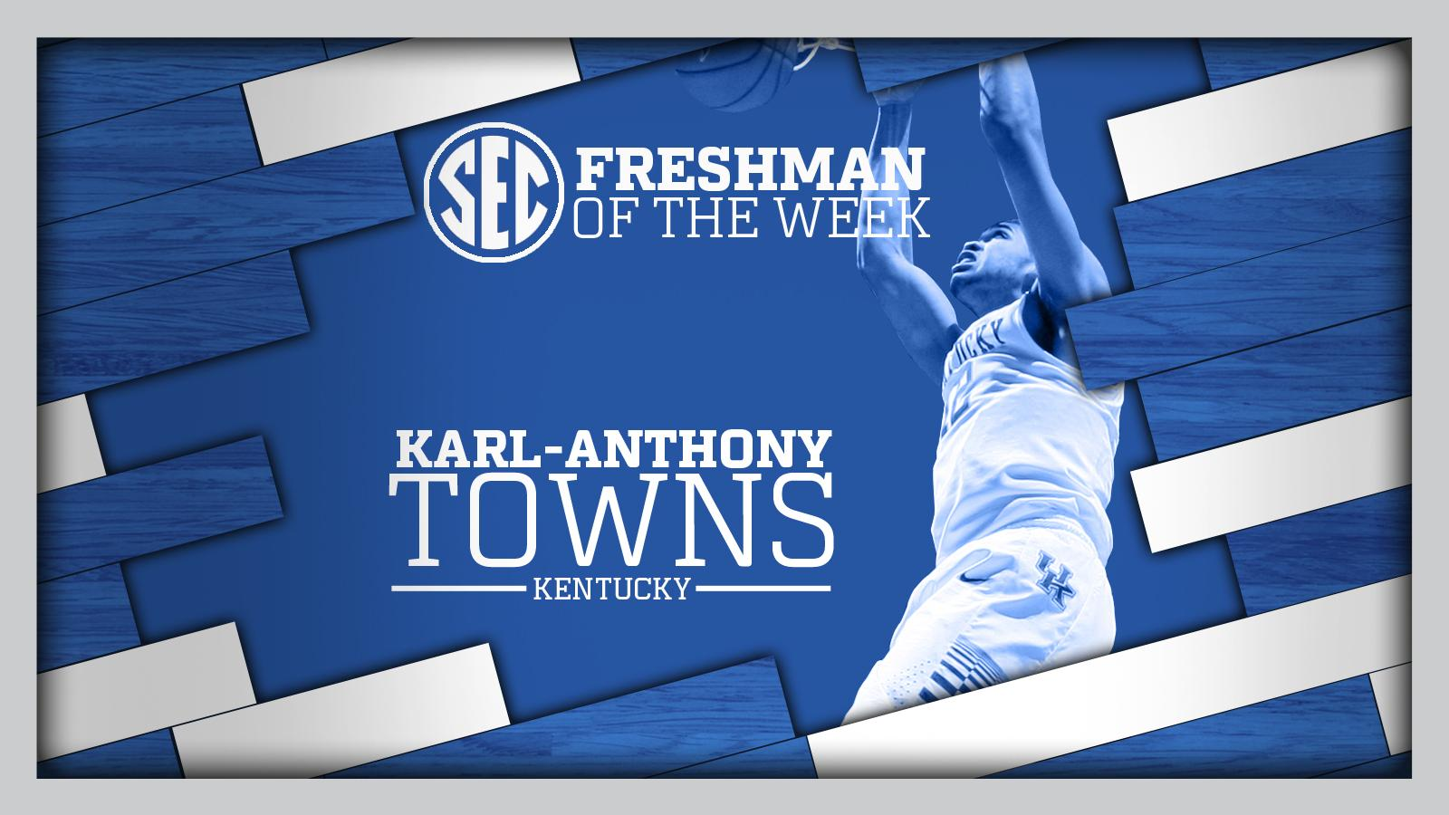 Kentucky Basketball Fox Named Sec Freshman Of The Week: Karl Towns Is The SEC Freshman Of The Week