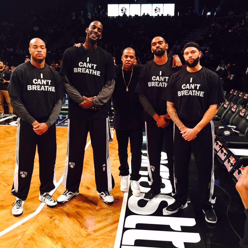 Respect to Jay Z and the Brooklyn Nets for supporting the movement!!  #ICantBreathe #EricGarner http://t.co/ZIywk8TfDE