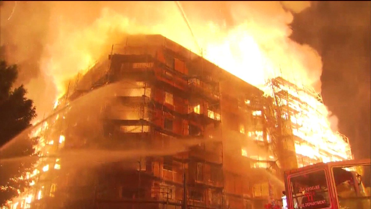 Were fire in Downtown LA arson? Set by #icantbreathe protesters?