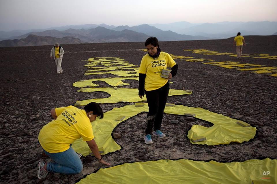 """Greenpeace """"abofetea"""" a Perú dañando gravemente las lineas de Nazca. B4XpRfZCIAAVnlo"""