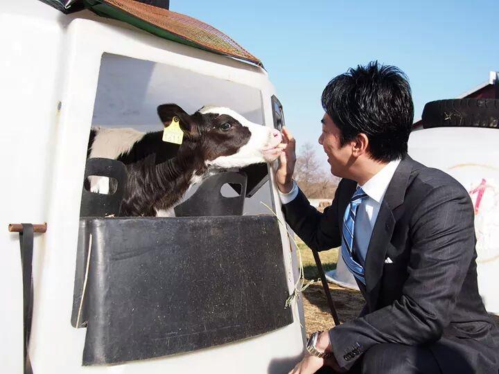 子牛と進次郎という最高の組み合わせ!!! http://t.co/4mGF1PUAWS