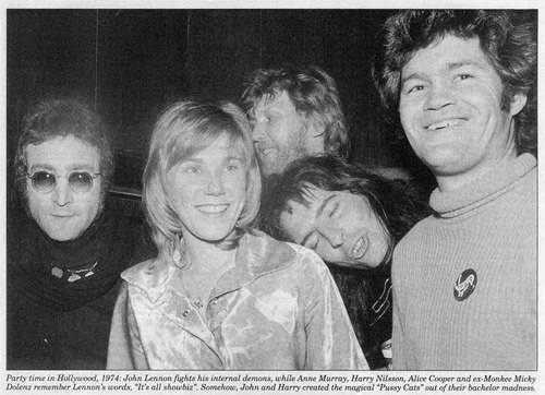 In memory of John Lennon~ with @RealAliceCooper @annemurray1 , Harry Nilsson and John Lennon http://t.co/C0bnmesucT