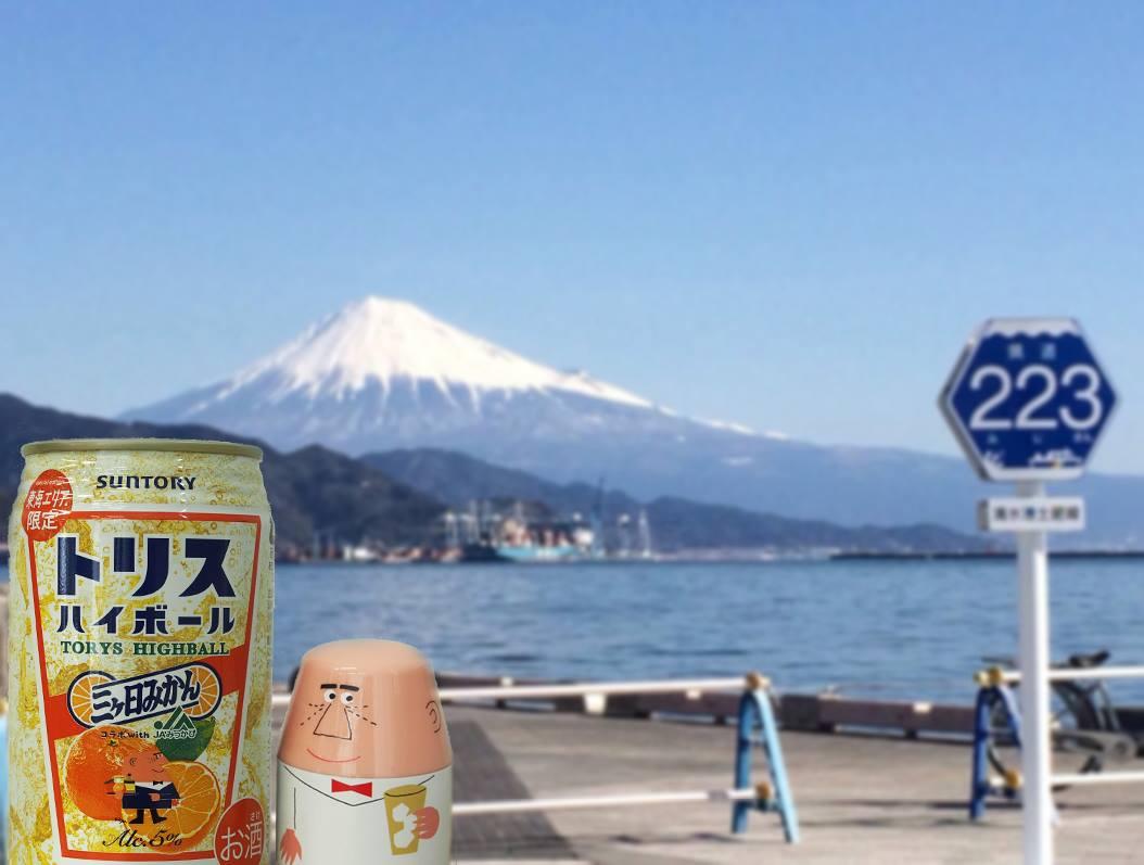 今年も、東海北陸7県限定トリスハイボール缶<三ヶ日みかん>が出たゾ。三ヶ日みかんの甘みと爽やかな酸味が特長だゾ。パッケージの富士山が目印だからナ。 ⇒ http://t.co/CkFsOV41xr http://t.co/SsoqHBXIPS
