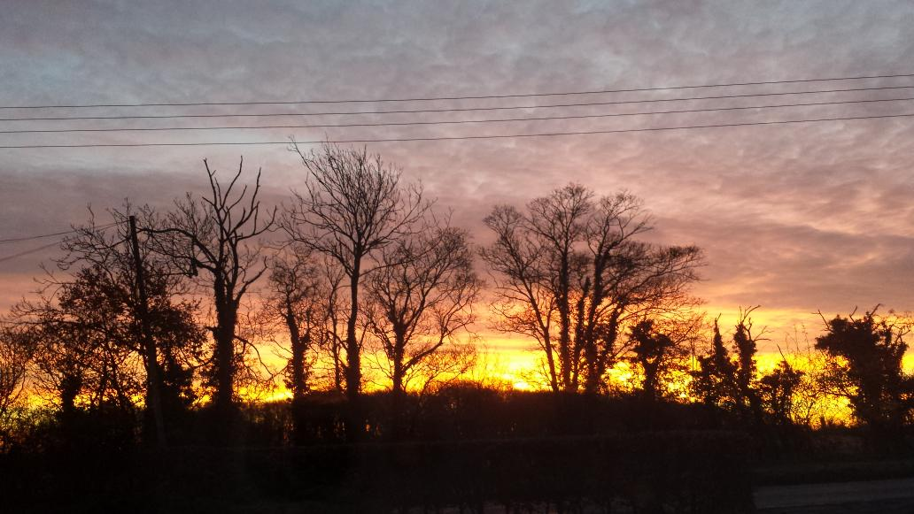 RT @sandiejc: @carolvorders Red sky in the morning shepherds warning at North Weald this morning! http://t.co/yee5NP1eEo