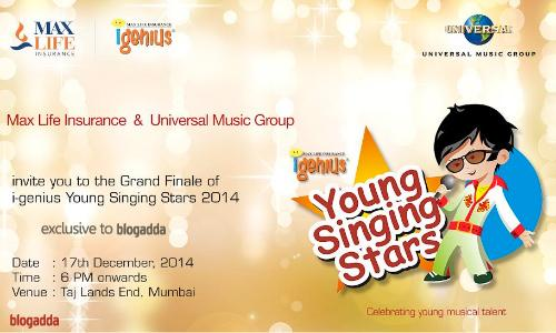 MAXLIFE I-GENIUS YOUNG SINGING STARS
