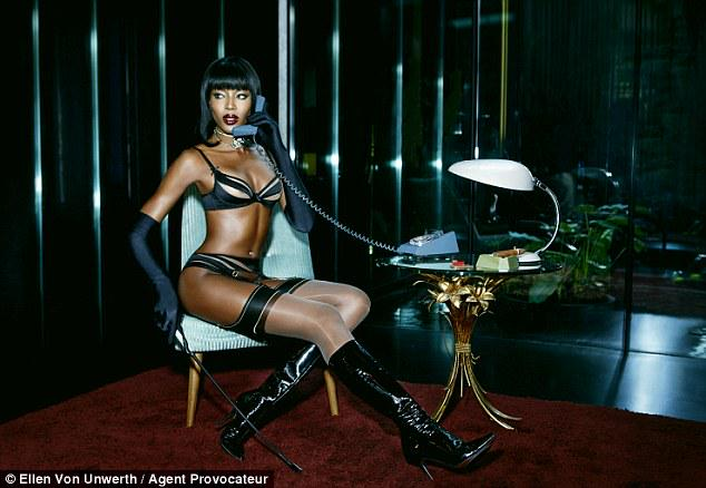 Naomi Campbell smoulders as the face (and body) of Agent Provocateur SS15  http  ddabcc6e4