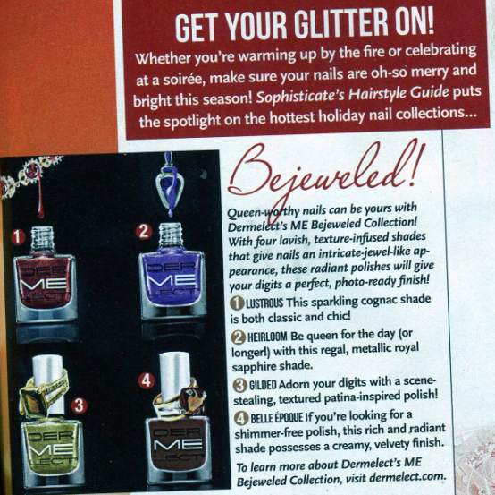 Get your glitter on this holiday with @Dermelect 's ME Bejeweled Collection! @SHGMagazine #Dermelect http://t.co/BkRQmibZV9