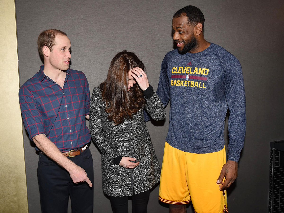 LeBron James learns royal protocol: Don't touch them