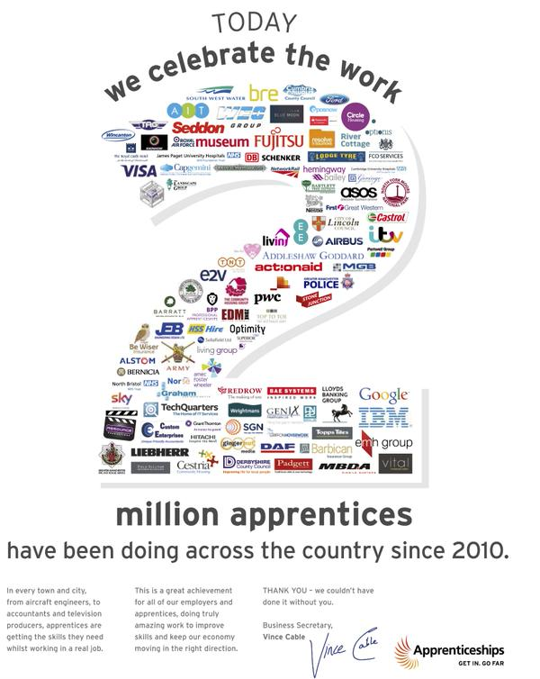 Here's to the next #2million @Apprenticeships! http://t.co/G3x5WczWmw http://t.co/CUSQwNGu5d