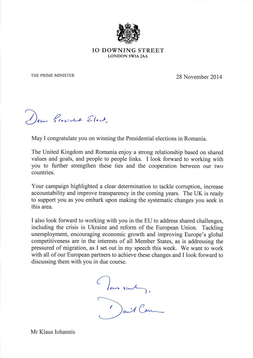 "Uk Embassy Bucharest On Twitter: ""Warm Congratulations Letter From"