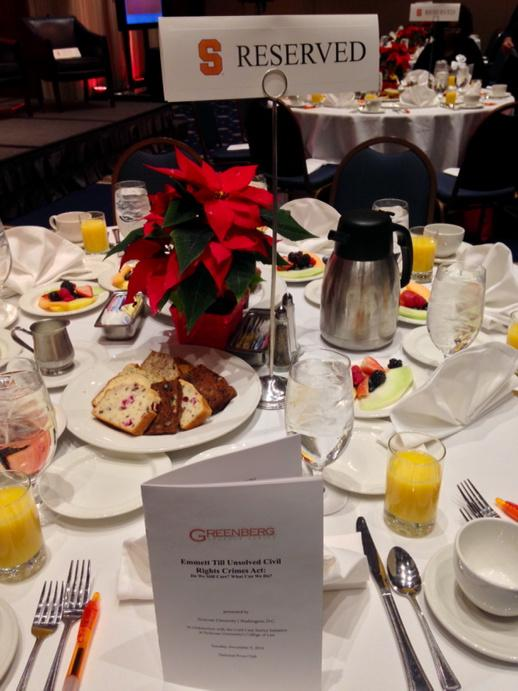 And the tables are set! #SUinDC #CivilRights #DC #EmmettTill http://t.co/UisgVrOCxg