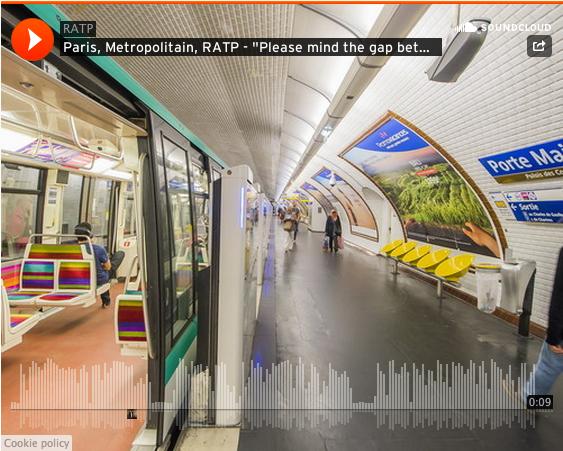 The RATP made Soundcloud of the voices of the métro ! ►►► http://t.co/PcC2Lddihm http://t.co/FTTsq90gmi via @_LeBonbon