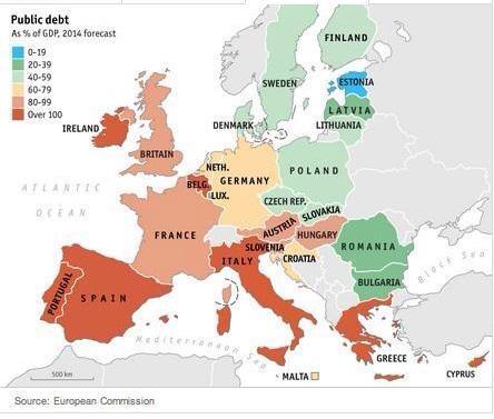 mapa deuda
