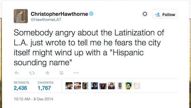 My favorite @LATimes tweet of the year (from @HawthorneLAT) http://t.co/kgA1Qi1IFW
