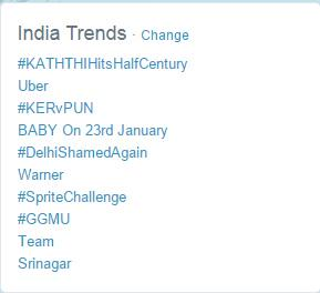 No 1 in India trends #KATHTHIHitsHalfCentury