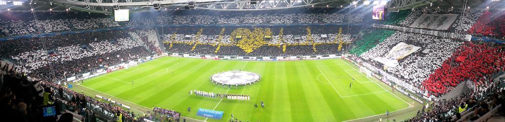 Mosaico da Juventus na Liga dos Campeões 2014