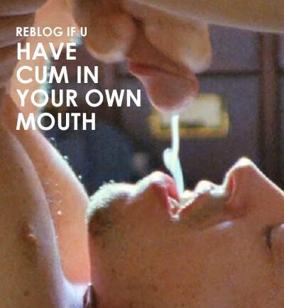 How to cum in your own mouth