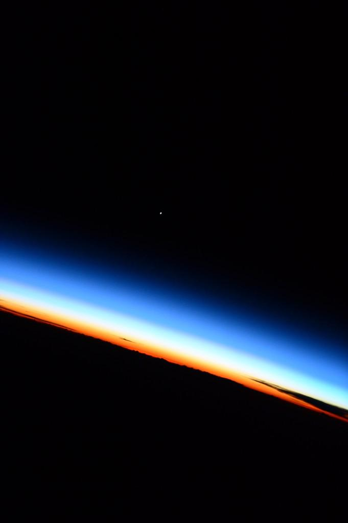 Terry virts on twitter venus sits on the background of the beautiful shots from iss astroterry venus sits on the background of the earths atmosphere picittercfktcnzc5t voltagebd Choice Image