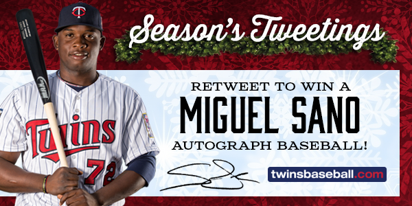 Retweet for a chance to win a Miguel Sano autographed baseball! http://t.co/7I4TnDm2Ae http://t.co/bAFwCkU3bL