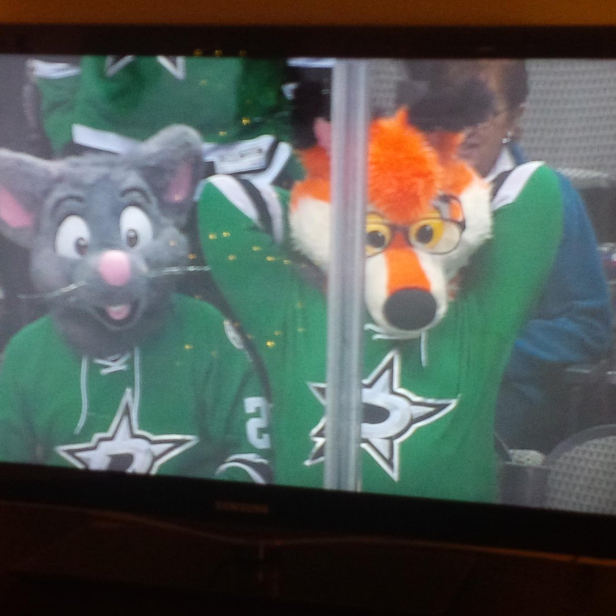 It's good to see our friends, the furries, are still attending Stars' games in DAL. Keep plushing in the free world! http://t.co/i0EVJOmwzn