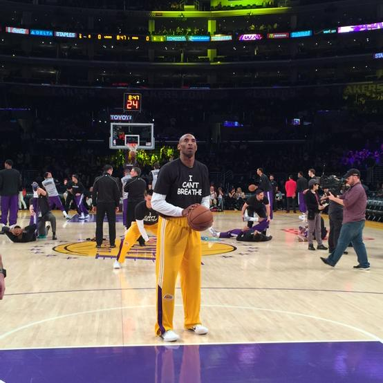 "All of the Lakers are wearing ""I Can't Breathe"" shirts. http://t.co/bTVWari4nx"