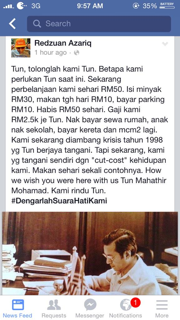 RT @SantaiDanSampah: Keluhan rakyat. Cc @NajibRazak http://t.co/yyv4mWlsAc
