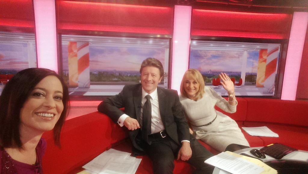 Early morning @BBCBreakfast Selfie! Back on http://t.co/LBD8arWodv
