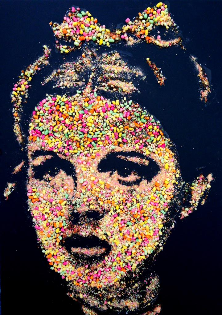 """""""@nathanwyburn1 what do you think of my portrait of Judy Garland using RAINBOW DROP sweets? debut art book.. http://t.co/6KvFvUiEWY"""" clever"""