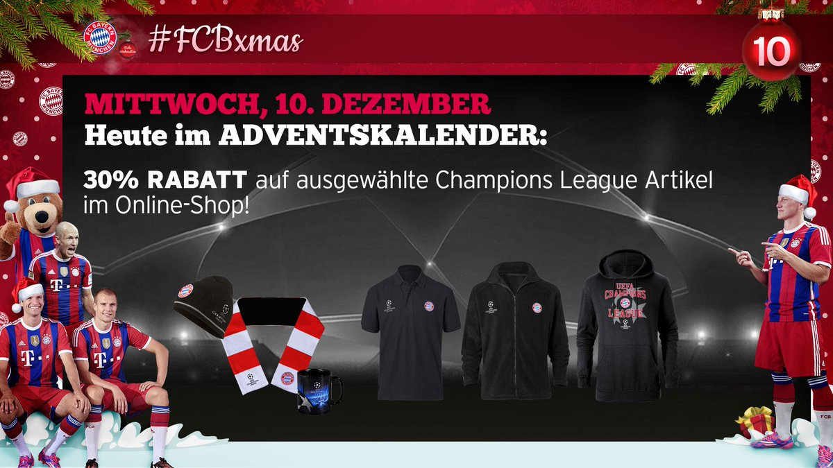 Fc Bayern Weihnachtskalender.Fc Bayern München On Twitter Fcbfreund Die Angebote Im Fcbxmas