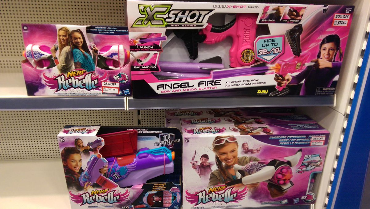 NERF: Because progress means painting things pink so girls can use them. @LetToysBeToys http://t.co/hroBuypjy7