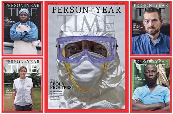 Bravo. Time's Person of the Year is the Ebola fighters. No braver people on earth. http://t.co/bJZeLW9I07