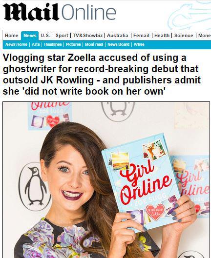 Youtubeuse Zoella Record Polemique Pour Le Premier Livre