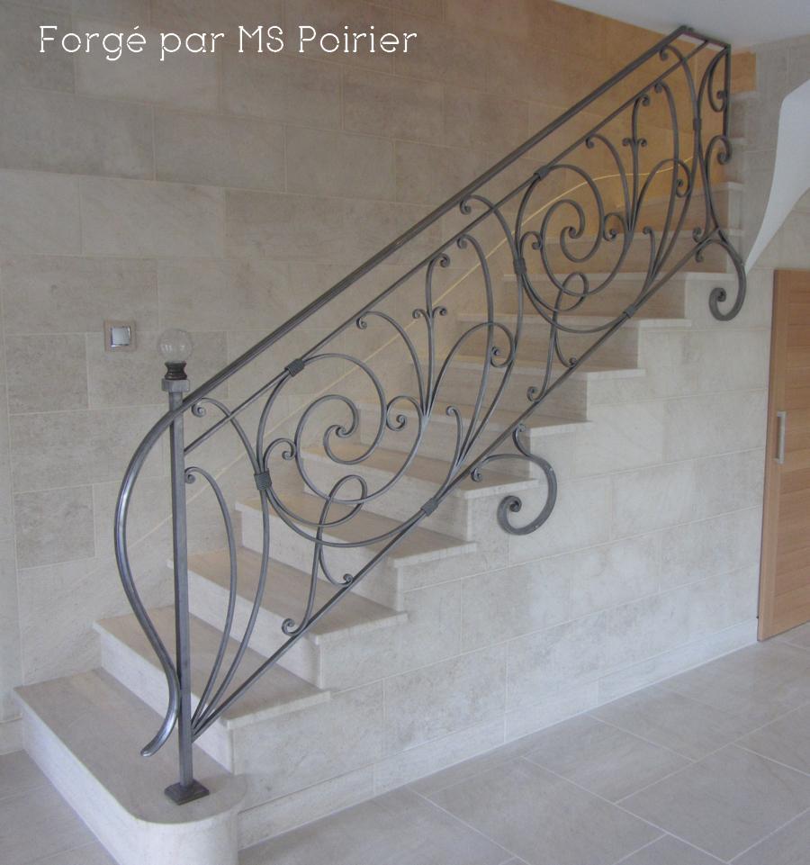 poirier ferronnier on twitter rampe d 39 escalier en fer forg finition fer blanc cir. Black Bedroom Furniture Sets. Home Design Ideas