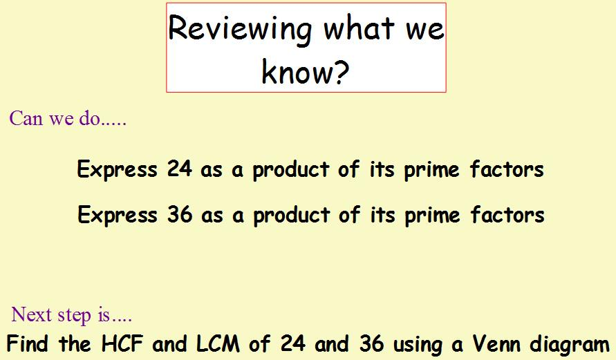 Mr Carmichael On Twitter So Y7 Can We Express Numbers As Products