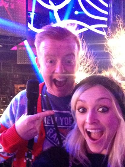 Rehearsing for the first ever BBC MUSIC AWARDS with Mr Evans! Watch it tomorrow at 8pm 👍 http://t.co/A8yHBV1R3y