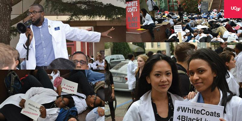 Today faculty, students & @UCSFODO staged #DieIn for justice in healthcare, equality for all. #whitecoats4blacklives http://t.co/7xkpdvrTSX